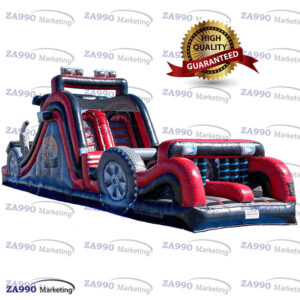 40x10ft Inflatable Big Rig Race Course Obstacle With Air Blower
