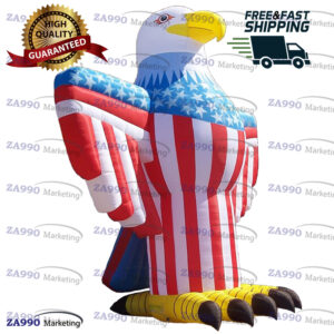 16ft Inflatable Eagle USA Cartoon With Air Blower