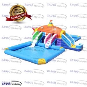 59x33ft Inflatable Water Park Slides & Pool With 2 Air Blower