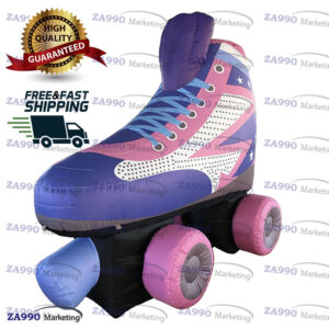 6.6×3.3ft Inflatable Roller Skate Model With Air Blower