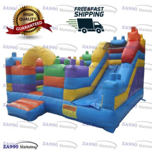13x13ft Inflatable Lego Theme Bounce House With Air Blower