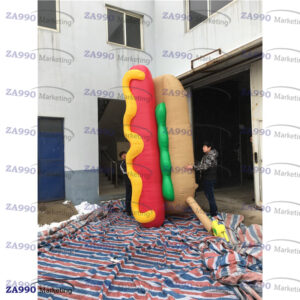13ft Inflatable Hot Dogs Advertising With Air Blower