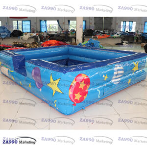 13x10ft Inflatable Balls Pool Playground With Air Blower