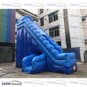 23x18ft Inflatable Ripple Rotating Water Slide With Air Blower