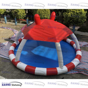 23ft Inflatable Pool With Shade Roof For Walking Ball With Air Pump
