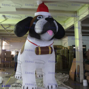 10ft Inflatable Husky Dog Christmas Holiday With Air Blower