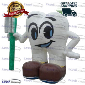 5.9ft Inflatable Dental Tooth Cartoon & Toothbrush With Air Blower