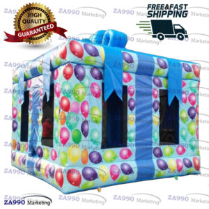 13x13ft Inflatable Gift Package Birthday Bounce House With Air Blower