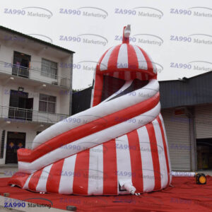 18x18ft Inflatable Lighthouse Slide With Air Blower