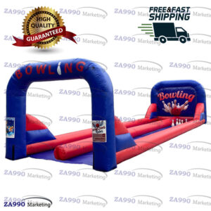 33x10ft Inflatable Double Lanes Bowling With Air Blower