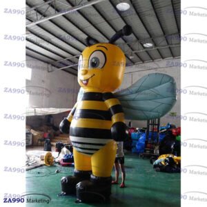 16ft Inflatable Bee Cartoon Advertising With Air Blower