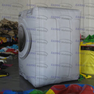 13ft Inflatable Washing Machine Advertising With Air Blower