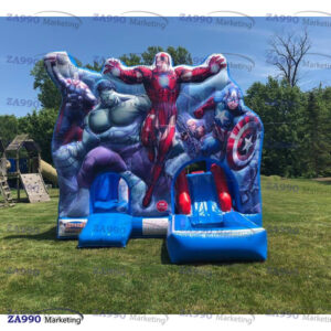20x20ft Inflatable Superheroes Bounce House With Air Blower