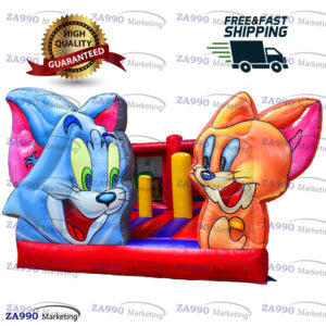 16x15ft Inflatable Tom and Jerry Bounce House With Air Blower