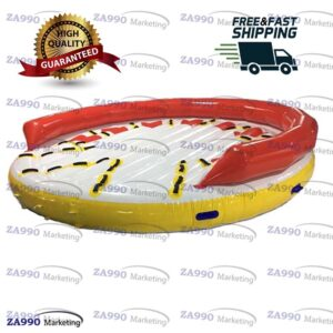 13ft Inflatable Towable Floating 8 Seats Disco Boat With Air Pump