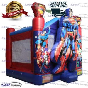 15x13ft Inflatable Superman Bounce House & Combo With Air Blower