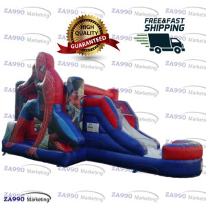 Inflatable Spider-Man Bounce House & Slide With Air Blower