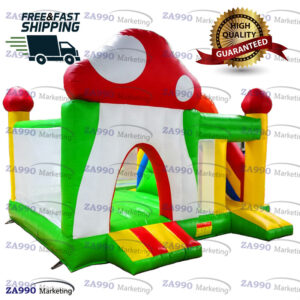 16x16ft Inflatable Mushroom Bounce House With Air Blower
