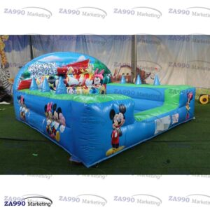 10x10ft Inflatable Mickey and Minnie Mouse Balls Pool With Air Blower