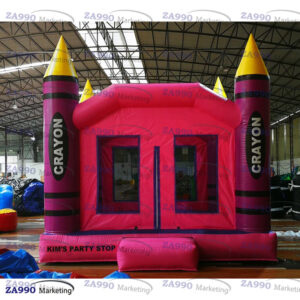 13x13ft Inflatable Crayon Bounce House With Air Blower