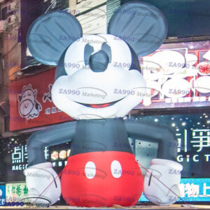 20ft Inflatable Mickey Mouse Cartoon Advertising With Air Blower