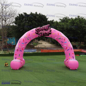 20x13ft Inflatable Donut Arch For Shop advertising With Air Blower