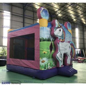 15x13ft Inflatable Unicorn Bounce House & Slide With Air Blower
