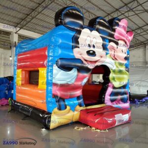 16x16ft Inflatable Mickey and Minnie Mouse Bounce House With Air Blower