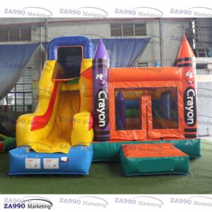 16x13ft Inflatable Crayon Bounce House & Slide With Air Blower